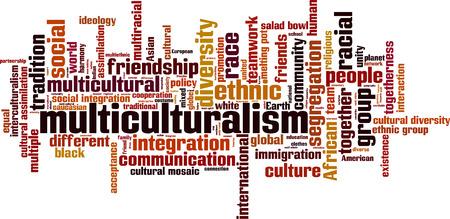 Multiculturalism word cloud concept. Vector illustration