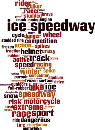 speedway: Ice speedway word cloud concept. Vector illustration