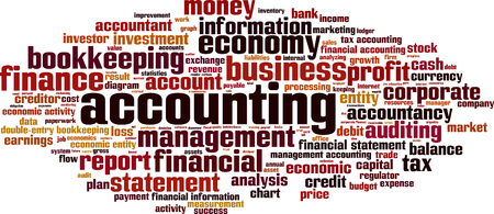 financial statement: Accounting word cloud concept. Vector illustration Illustration