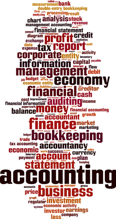 economic activity: Accounting word cloud concept. Vector illustration Illustration