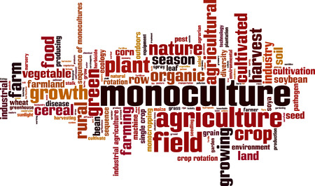 monoculture: Monoculture word cloud concept. Vector illustration