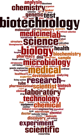 bioscience: Biotechnology word cloud concept. Vector illustration Illustration
