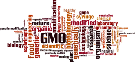 GMO word cloud concept. Vector illustration