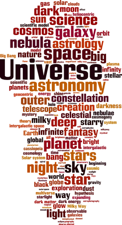observable: Universe word cloud concept. Vector illustration Illustration