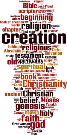 Creation word cloud concept. Vector illustration Illustration