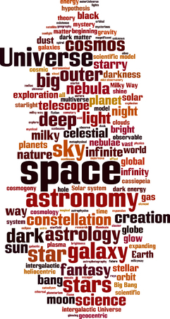 observable: Space word cloud concept. Vector illustration
