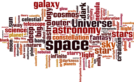 cosmology: Space word cloud concept. Vector illustration