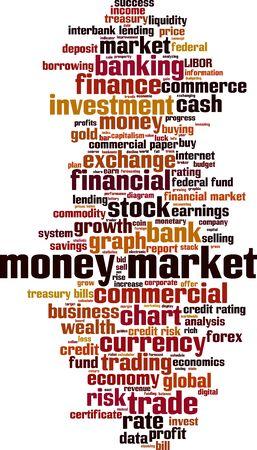 credit risk: Money market word cloud concept. Vector illustration