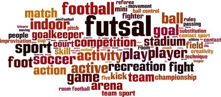 futsal: Futsal word cloud concept. Vector illustration