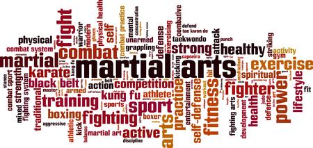 martial art: Martial arts word cloud concept. Vector illustration