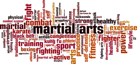 grappling: Martial arts word cloud concept. Vector illustration