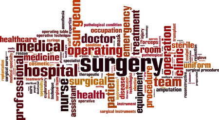 cloud tag: Surgery word cloud concept. Vector illustration