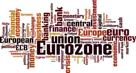 eurozone: Eurozone word cloud concept. Vector illustration