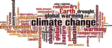 Klimawandel Word Wolke Konzept. Vektor-Illustration Standard-Bild - 49152888