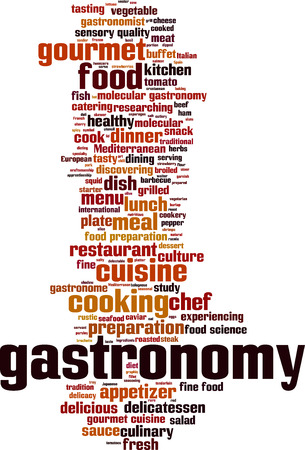 gastronome: Gastronomy word cloud concept. Vector illustration