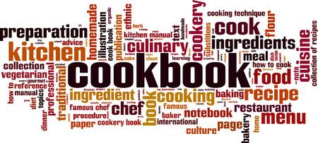 cookbook: Cookbook word cloud concept. Vector illustration Illustration