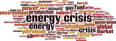 energy crisis: Energy crisis word cloud concept. Vector illustration Illustration