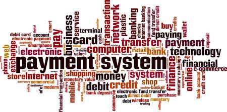 value system: Payment system word cloud concept. Vector illustration Illustration