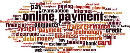 online payment: Online payment word cloud concept. Vector illustration Illustration