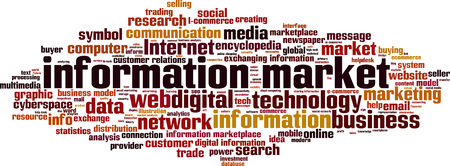 purchasing power: Information market word cloud concept. Vector illustration