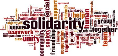 solidaridad: palabra solidaridad concepto de la nube. ilustración vectorial Vectores