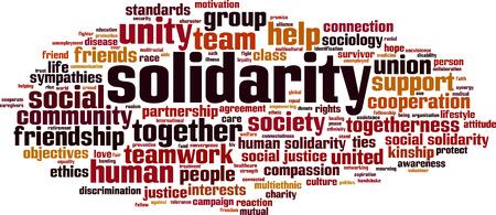 Solidarity word cloud concept. Vector illustration