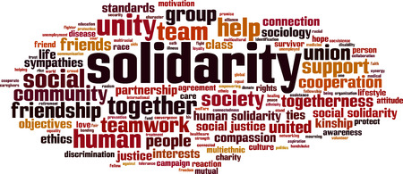 Solidariteit word cloud concept. vector illustratie