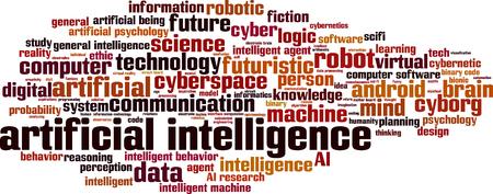 artificial intelligence: Artificial intelligence word cloud concept. Vector illustration