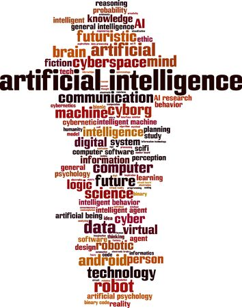 ethic: Artificial intelligence word cloud concept. Vector illustration