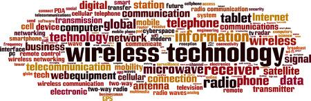 wireless technology: Wireless technology word cloud concept. Vector illustration