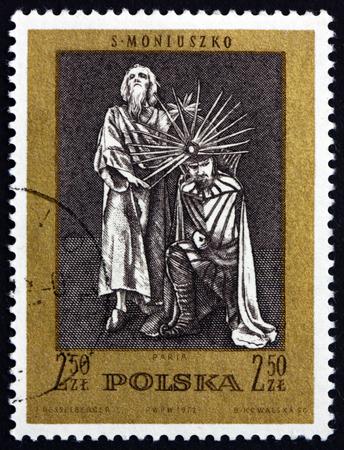 paria: POLAND - CIRCA 1972: a stamp printed in Poland shows Paria, Scene from Opera by Stanislaw Moniuszko, circa 1972