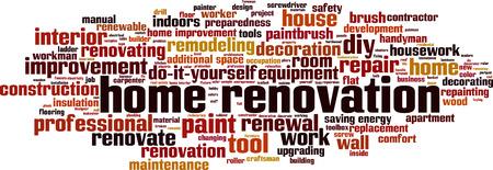 Home renovation word cloud concept. Vector illustration