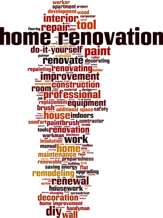 home renovation: Home renovation word cloud concept. Vector illustration
