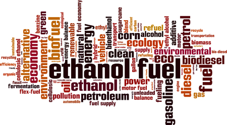 fuel economy: Ethanol fuel word cloud concept. Vector illustration Illustration