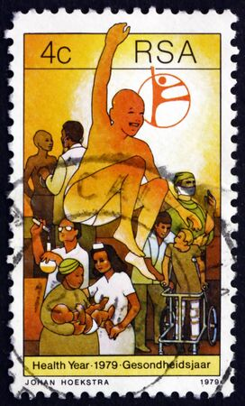 soundness: SOUTH AFRICA - CIRCA 1979: a stamp printed in South Africa dedicated to Health Care and Service, Health Year, circa 1979 Editorial