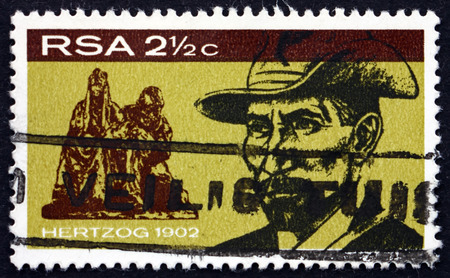boer: SOUTH AFRICA - CIRCA 1968: a stamp printed in South Africa shows James Barry Munnik Hertzog, Boer General and Prime Minister of South Africa, circa 1968