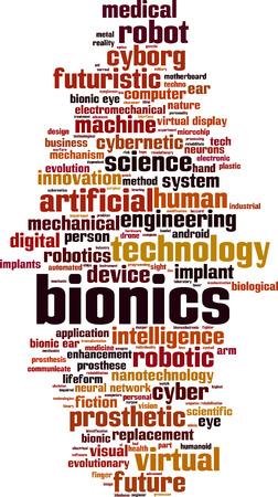 bionics: Bionics word cloud concept. illustration