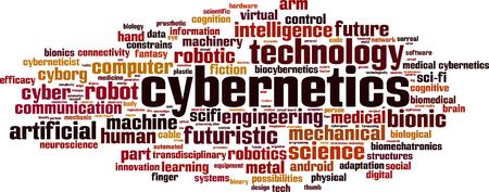 cognicion: La cibernética palabra nube concepto. ilustración
