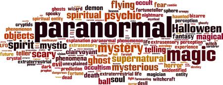 Paranormal word cloud concept. vector illustratie