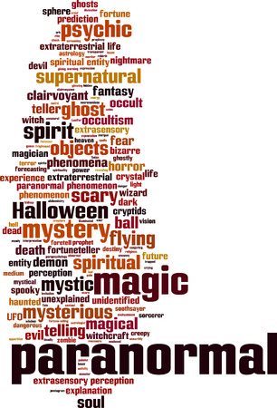 paranormal: Paranormal word cloud concept. Vector illustration