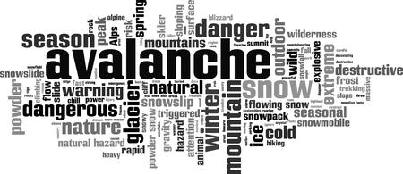 devastating: Avalanche word cloud concept. Vector illustration Illustration