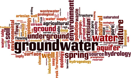 groundwater: Groundwater word cloud concept. Vector illustration