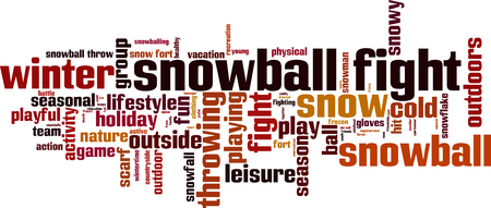 boule de neige: mot de combat Snowball concept de cloud. Vector illustration