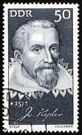 astrologer: GERMANY - CIRCA 1971: a stamp printed in Germany shows Johannes Kepler, German Mathematician, Astronomer and Astrologer, circa 1971