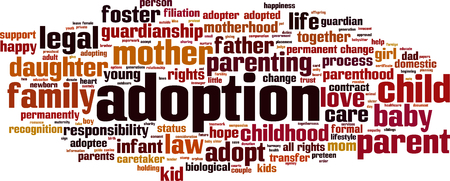 father in law: Adoption word cloud concept.