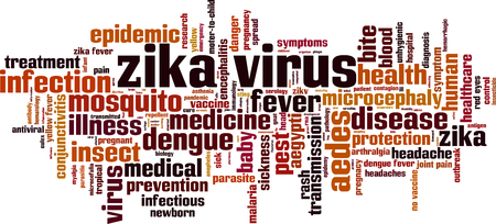 epidemy: Zika virus word cloud concept