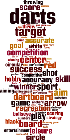 Darts word cloud concept.
