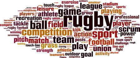 Rugby word cloud concept. vector illustratie