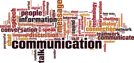 two way: Communication word cloud concept. Vector illustration