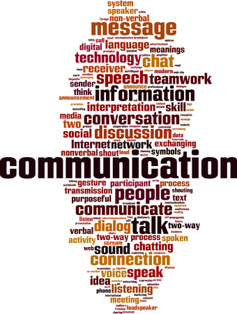 word: Communication word cloud concept. Vector illustration